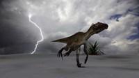 Utahraptor Running Across a Desert by Kostyantyn Ivanyshen - various sizes