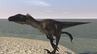 Utahraptor Running by Bay by Kostyantyn Ivanyshen - various sizes