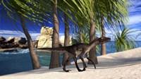 Utahraptor Walking Along the Shore by Kostyantyn Ivanyshen - various sizes
