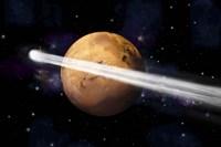 Comet Passing by Mars Fine Art Print