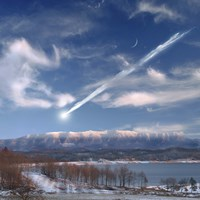 Large Meteor Entering Earth by Marc Ward - various sizes