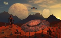 Alien Flying Saucer Fine Art Print