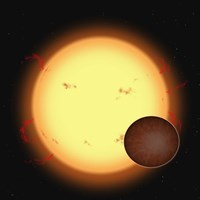 HD 209458B (Extra Solar Planet) Fine Art Print