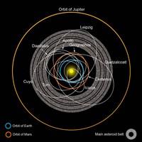 Orbits of Earth-Crossing Asteroids Fine Art Print