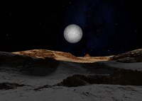 Pluto with Charon in the Sky Fine Art Print