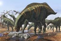 Shantungosaurus Dinosaurs Fine Art Print