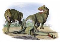 Two Cryolophosaurus Ellioti Fine Art Print