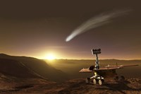 Comet over Endeavour Crater Fine Art Print