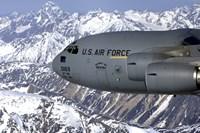 The Spirit of Denali flies over the Alaska Range - various sizes