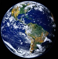 Full Earth Showing The Americas Fine Art Print