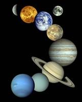 Solar System Montage Fine Art Print