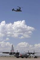 A CV-22 Osprey and C-130 Hercules - various sizes