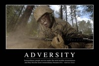 Adversity: Inspirational Quote and Motivational Poster Fine Art Print