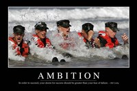 Ambition: Inspirational Quote and Motivational Poster - various sizes, FulcrumGallery.com brand