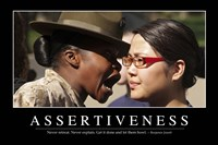 Assertiveness: Inspirational Quote and Motivational Poster - various sizes, FulcrumGallery.com brand
