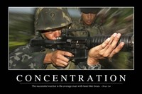 Concentration: Inspirational Quote and Motivational Poster - various sizes