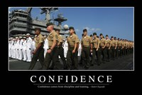 Confidence: Inspirational Quote and Motivational Poster - various sizes, FulcrumGallery.com brand