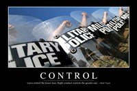 Control: Inspirational Quote and Motivational Poster - various sizes