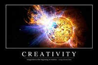 Creativity: Inspirational Quote and Motivational Poster - various sizes