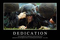Dedication: Inspirational Quote and Motivational Poster - various sizes