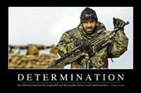 Determination: Inspirational Quote and Motivational Poster - various sizes, FulcrumGallery.com brand
