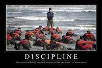 Discipline: Inspirational Quote and Motivational Poster Fine Art Print