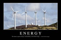 Energy: Inspirational Quote and Motivational Poster - various sizes