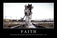 Faith: Inspirational Quote and Motivational Poster - various sizes, FulcrumGallery.com brand