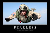Fearless: Inspirational Quote and Motivational Poster - various sizes, FulcrumGallery.com brand