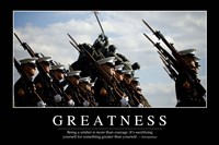 Greatness: Inspirational Quote and Motivational Poster - various sizes