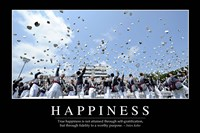 Happiness: Inspirational Quote and Motivational Poster - various sizes