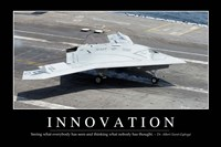 Innovation: Inspirational Quote and Motivational Poster Fine Art Print