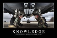 Knowledge: Inspirational Quote and Motivational Poster - various sizes