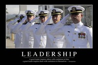 Leadership: Inspirational Quote and Motivational Poster Fine Art Print