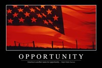 Opportunity: Inspirational Quote and Motivational Poster - various sizes