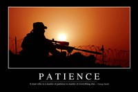 Patience: Inspirational Quote and Motivational Poster Fine Art Print