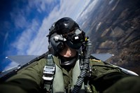 Pilot in F-15E Strike Eagle - various sizes