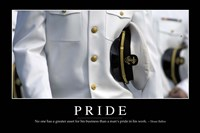 Pride: Inspirational Quote and Motivational Poster - various sizes