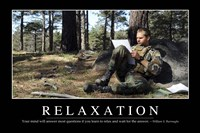 Relaxation: Inspirational Quote and Motivational Poster - various sizes