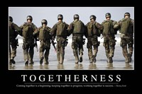 Togetherness: Inspirational Quote and Motivational Poster - various sizes