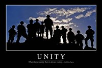 Unity: Inspirational Quote and Motivational Poster Framed Print