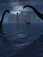 Dinosaurs Feed Near Atlantis by Mark Stevenson - various sizes, FulcrumGallery.com brand