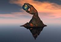 World at your Fingertips (3D) Fine Art Print