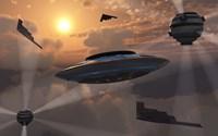 Alien Stealth Technology Fine Art Print