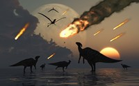 Hadrosaurs and Meteors by Mark Stevenson - various sizes