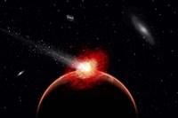 Comet Hitting Alien Planet by Mark Stevenson - various sizes - $47.99