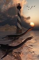 Plesiosaurs on a Sandbank by Mark Stevenson - various sizes