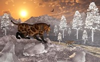 Sabre Tooth Tigers in Winter by Mark Stevenson - various sizes