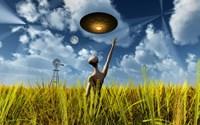 Alien Making Crop Circles by Mark Stevenson - various sizes