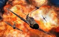 American P-51 Mustangs in Aerial Combat by Mark Stevenson - various sizes